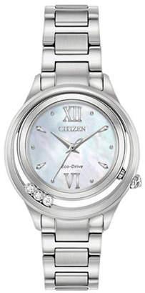Citizen Analog Sunrise Stainless Steel Bracelet Watch