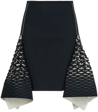 Dion Lee bias perforated mini skirt