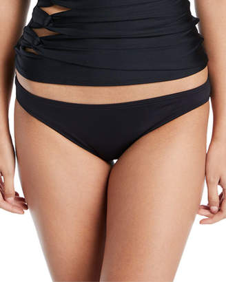 Carmen Marc Valvo Coastal Twist Solid Bikini Swim Bikini Bottoms