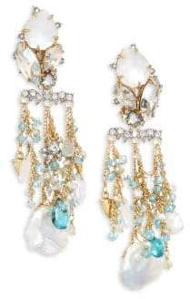Alexis Bittar Elements Multi-Crystal Chandelier Earrings