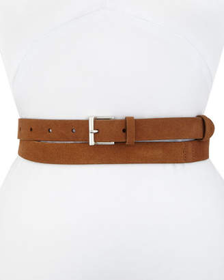Frame Double-Wrap Suede Leather Belt
