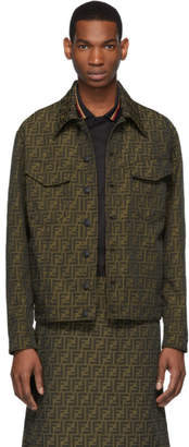 Fendi Brown All Over Forever Jacket