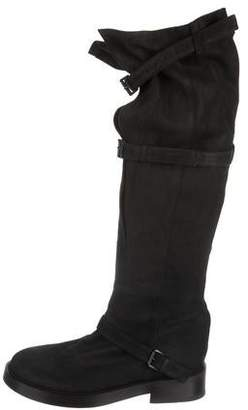 Ann Demeulemeester Round-Toe Over-The-Knee Boots