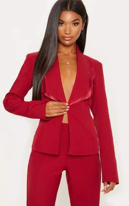 PrettyLittleThing Red Suit Jacket