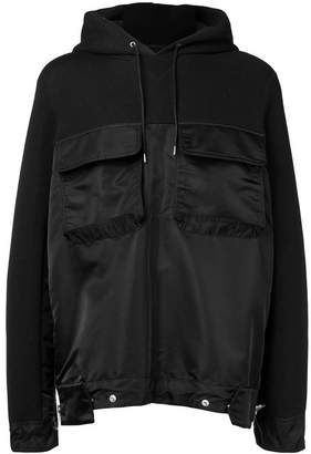Sacai hooded pocket sweatshirt