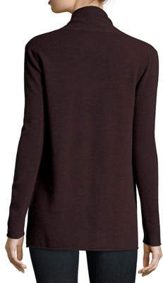 Neiman Marcus Classic Draped Cashmere Cardigan, Plus Size