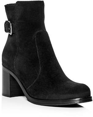La Canadienne Women's Petra Waterproof Suede Block-Heel Booties