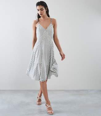Reiss Nicole Polka Dot Summer Dress