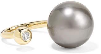 Mizuki 14-karat Gold, Pearl And Diamond Ring - 6