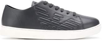 Emporio Armani embossed logo sneakers