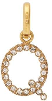 Burberry Q Crystal Embellished Letter Charm - Womens - Crystal