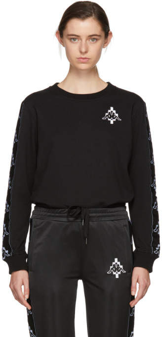 Black Kappa Edition Tape Sweatshirt