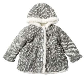 WIDGEON Faux Fur Trimmed Knit Coat (Baby Girls)