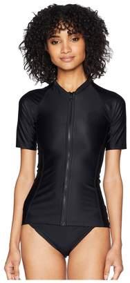 Rip Curl Belle Zip Through Short Sleeve Top Women's Swimwear