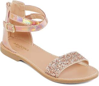 6a8ba9053ef9 Arizona Little Kid Big Kid Girls Kylie Adjustable Strap Flat Sandals