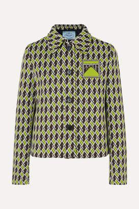 Prada Jacquard-knit Blazer - Green