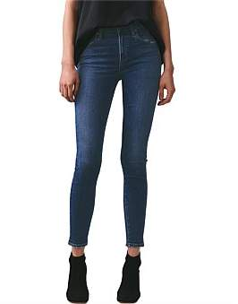 A Gold E Agolde Sophie Skinny Ankle Jean
