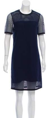 Rag & Bone Knee-Length Mesh Overlay Dress