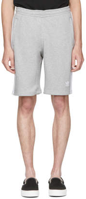 adidas Grey 3 Stripe Shorts