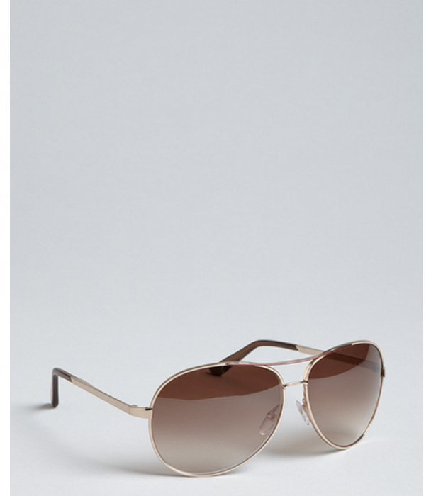 Tom Ford rose gold metal 'Charles' aviator sunglasses