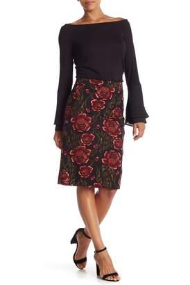 Catherine Malandrino Floral Pencil Skirt