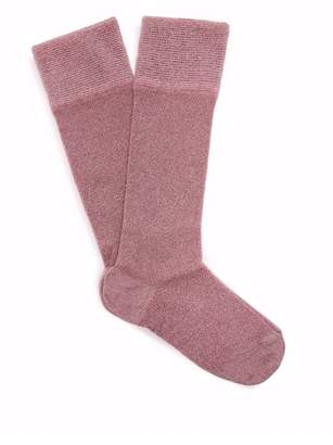 Isabel Marant Metallic Ankle Socks - Womens - Pink
