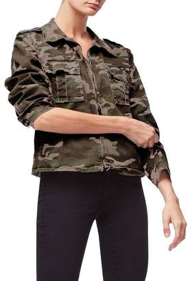 Good American Camo Print Military Jacket (Regular & Plus Size)