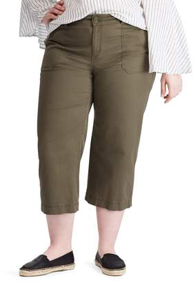 Chaps Plus Stretch Twill Wide-Leg Pants