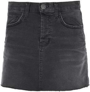 Current/Elliott Frayed Denim Mini Skirt