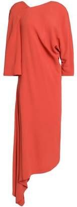 Chalayan Asymmetric Draped Crepe Midi Dress