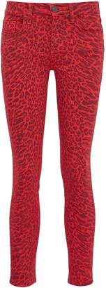 Current/Elliott 'The Stiletto' leopard print skinny jeans
