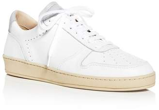 Zespà Women's Dessus Perforated Leather Lace Up Sneakers