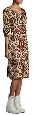 Marc Jacobs Leopard V-Neck Dress