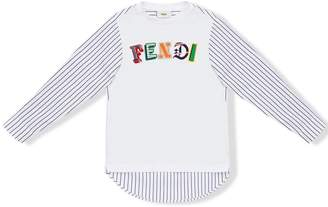 Fendi logo print top