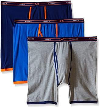 Hanes Men's 3-Pack X-Temp Active Cool Long Leg Boxer Brief