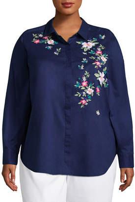 Liz Claiborne Embroidered Tunic- Plus
