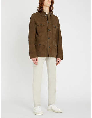 OSCAR JACOBSON Milo patch-pocket suede jacket