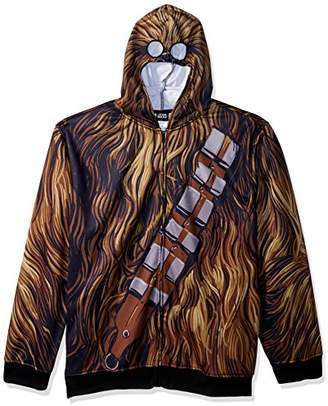 Star Wars Men's Chewbacca Character Zip Front Hoodie