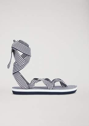 Emporio Armani Ea7 Sandals With Striped Straps