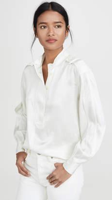Derek Lam 10 Crosby Long Sleeve Half Placket Shirt