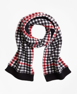 Brooks Brothers Wool Blend Windowpane Scarf