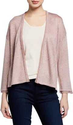Neiman Marcus Cashmere-Blend & Sequin Kimono-Sleeve Cardigan
