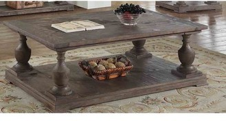 Pinewood Best Master Furniture Oak-finish Rustic Coffee Table
