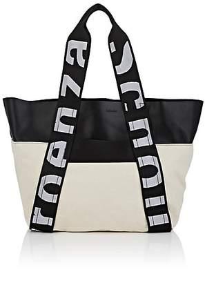Proenza Schouler Women's Leather-Trimmed Canvas Tote Bag - Black