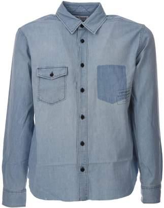 Saint Laurent Oversized T-shirt In Blue Denim