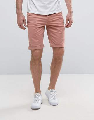 New Look Slim Fit Denim Shorts In Light Pink