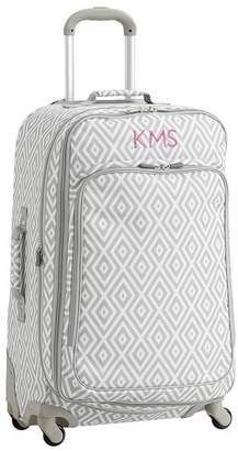Pottery Barn Teen Jet Set Luggage, Preppy Diamond Gray Checked Spinner, Gray