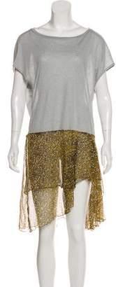 Dries Van Noten Printed Knee-Length Shirtdress