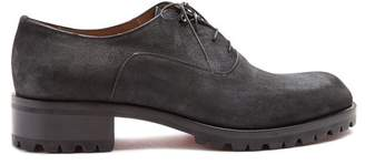 Christian Louboutin Sopeter Tread Sole Suede Derby Shoes - Mens - Black