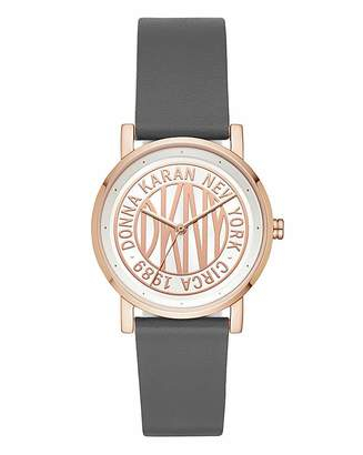 DKNY Soho Leather Strap Watch